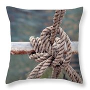 Knot Of My Warf Throw Pillow by Stephen Mitchell