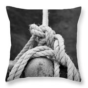 Knot On My Warf Iv Throw Pillow by Stephen Mitchell