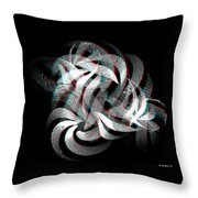 Knotplot 1 - Use Red-cyan 3d Glasses  Throw Pillow