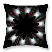 Knotplot 10 - Use Red-cyan 3d Glasses Throw Pillow