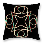 Knotplot 11 - Use Red-cyan 3d Glasses Throw Pillow
