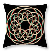 Knotplot 12 - Use Red-cyan 3d Glasses Throw Pillow