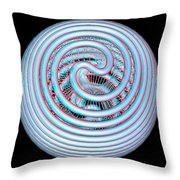 Knotplot 4 - Use Red-cyan 3d Glasses Throw Pillow