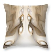 Knots On Wood Throw Pillow