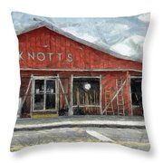 Knott's Hardware Throw Pillow