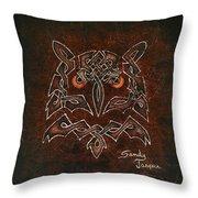 Knotty Owl Throw Pillow