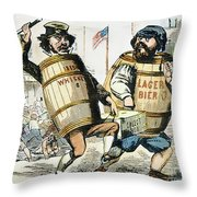 Know-nothing Cartoon Throw Pillow by Granger