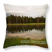Knowing Trees Throw Pillow