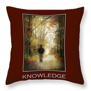 Knowledge Inspirational Motivational Poster Art Throw Pillow by Christina Rollo