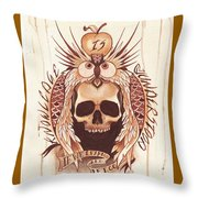 Knowledge Throw Pillow by Deadcharming Art