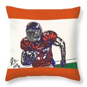 Knowshon Moreno 2 Throw Pillow by Jeremiah Colley
