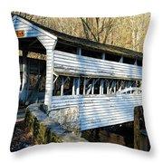 Knox Covered Bridge Throw Pillow