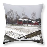 Knox Farm In Winter 0980 Throw Pillow