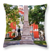 Knoxville Old Courthouse Grounds Throw Pillow