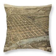 Knoxville Tennessee 1871 Throw Pillow