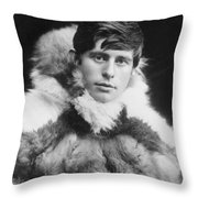 Knud Rasmussen (1879-1933) Throw Pillow