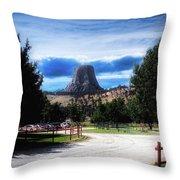 Koa Devils Tower Wyoming Throw Pillow