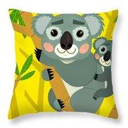 Koala Bears Throw Pillow