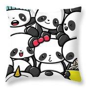 Koala Doodle Throw Pillow