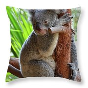 Koala Mama Throw Pillow