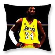 Kobe Bryant Ready For Battle Throw Pillow