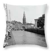 Kobenhavn Kanal Throw Pillow