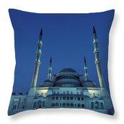 Kocatepe Cami Mosque In Ankara, Turkey Throw Pillow