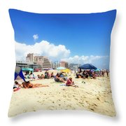 Blue Sky Day In Ocean City Throw Pillow