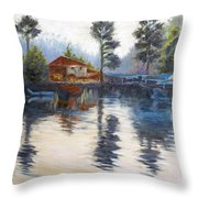 Kodaikanal Lake Throw Pillow