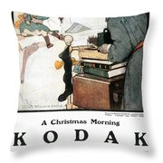 Kodak Advertisement, 1904 Throw Pillow