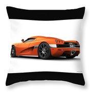 Koenigsegg Ccx Orange Throw Pillow