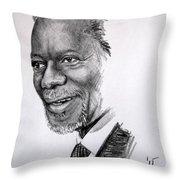 Kofi Anan Throw Pillow