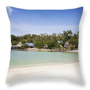 Koh Talu Beach Throw Pillow