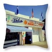 Kohrs Ice Cream Seaside Park Throw Pillow