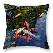 Koi - Dsc00016 Throw Pillow