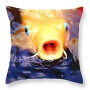 Koi Ahoy Throw Pillow