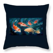 Koi Ballet 2 Throw Pillow