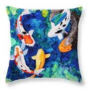 Koi Family Throw Pillow