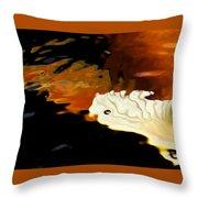 Koi Fin Abstract Throw Pillow