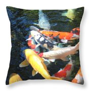 Koi Fish 2 Throw Pillow