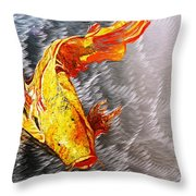 Koi Fish Aluminum Print, Unique Gift For Any Home Or Office. 'the Silver Koi'. Throw Pillow