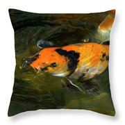 Koi Fish Blowing Bubbles Throw Pillow