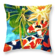 Koi Fish #104 Throw Pillow