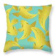 Koi Fish Sage - Lemon Throw Pillow