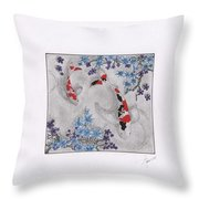 Koi In The Shade Throw Pillow