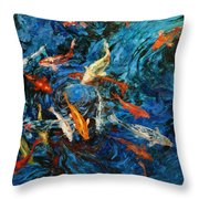 Koi IIi Throw Pillow