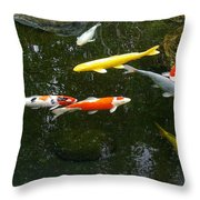 Koi-jfg Cherry Blossom Festival 2013-3 Throw Pillow