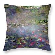 Koi N Pond Throw Pillow