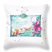 Koi Of The Tropics Throw Pillow