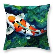 Koi One Throw Pillow